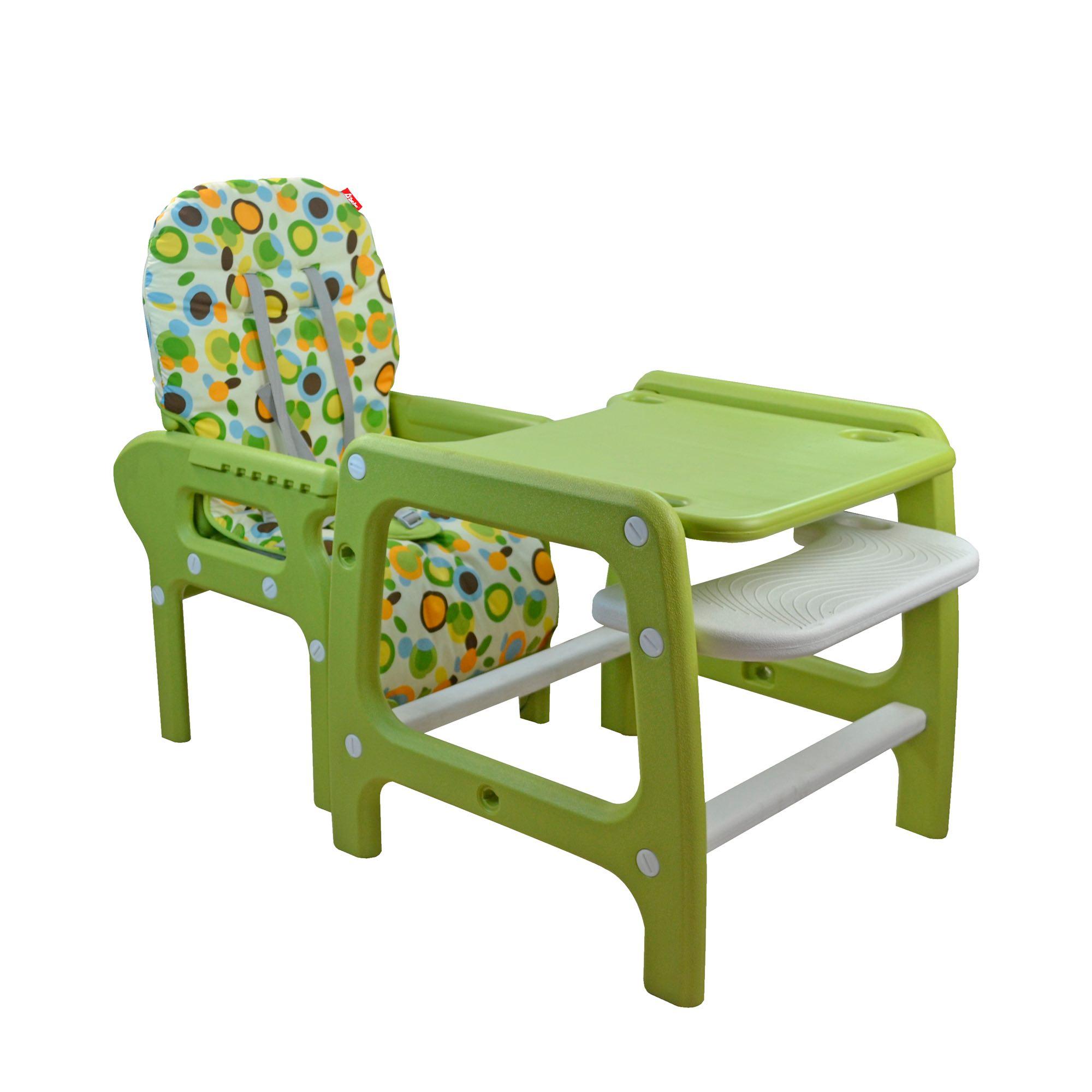 Silla alta para comer multiconfort verde d 39 beb for Sillas de escritorio altas