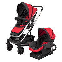 D'bebé carriola travel system crown roja